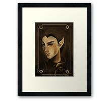 thief portrait Framed Print
