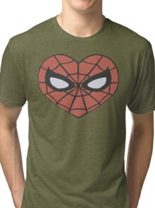 Spider-Man Heart T-Shirt Tri-blend T-Shirt