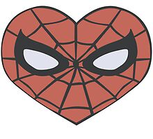 Spider-Man Heart T-Shirt by Psytrese