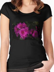 Silky Pink Cactus Blooms Women's Fitted Scoop T-Shirt