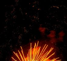 Orange Fireworks  by hcorrigan