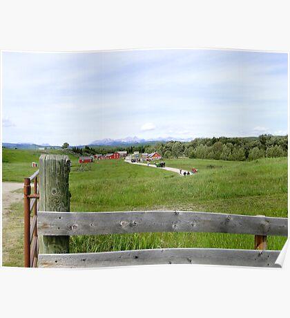 The Bar U Ranch, Alberta, Canada Poster