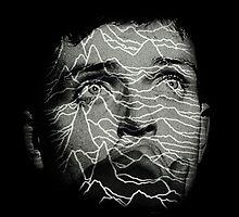 Ian Curtis - Joy Division. Unknown Pleasures Overlay by twentyfourhours