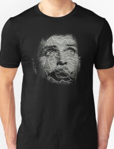 Ian Curtis - Joy Division. Unknown Pleasures Overlay T-Shirt