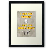 Pulp Fiction inspired valentine (1/2) Framed Print