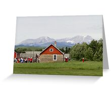 Bar U Ranch, Canada Day 2010 Greeting Card