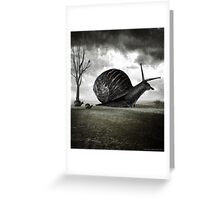 Snail Trail Greeting Card