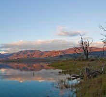 Evening on Khancoban Pondage, Australia by David Woolcock