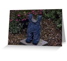 A Child 's Blue Overalls Frozen in Time Greeting Card