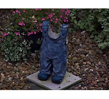 A Child 's Blue Overalls Frozen in Time Photographic Print
