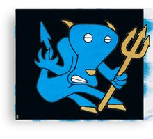 Blue Devil Mondays Canvas Print