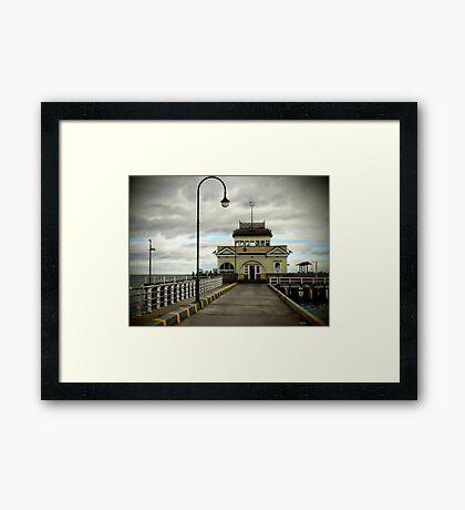 St Kilda Pier Melbourne Framed Print