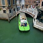 A Tight Squeeze in Venice by Keith Richardson