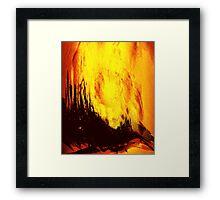 fireball sunset over a rural setting Framed Print