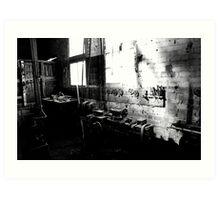 """The forgotten workshop"" Hartwood Station, Conargo, NSW Art Print"