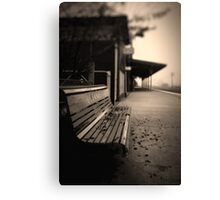 Lonely Station Canvas Print