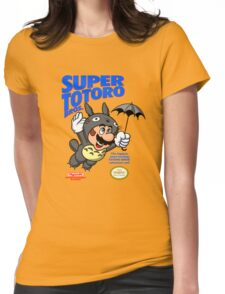 Super Totoro Bros Womens Fitted T-Shirt
