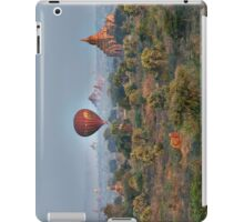 Ballons ride over temples of Bagan iPad Case/Skin
