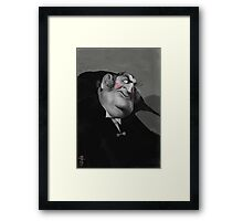 Lots of eyebrows Framed Print