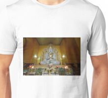 sitting Buddha made from one single marble block, KYAUKTAWGYI PAGODA Unisex T-Shirt