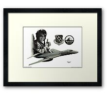 """Chris Stewart and Night Stalker"" Framed Print"