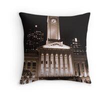 Town Hall, Kings Square, Brisbane, Qld, Australia - Sepia Throw Pillow