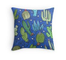 Twilight Cactus Throw Pillow