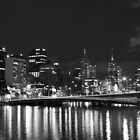 Reflections on the Yarra - Black & White by Stephen Horton