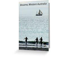 Broome, Western Australia, postcard Greeting Card