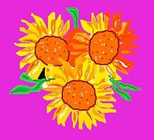 Sunflowers by Shoshonan