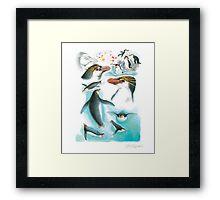 Royal Penguin Framed Print