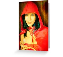 Little red cap Greeting Card