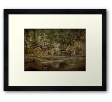 Textured carriages Framed Print