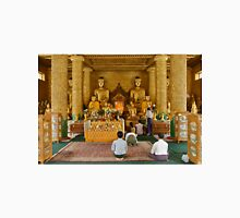 faithful Buddhists praying at Buddha Statues in SHWEDAGON PAGODA Unisex T-Shirt