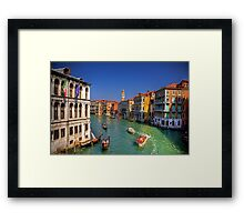 Light Traffic on the Grand Canal Framed Print