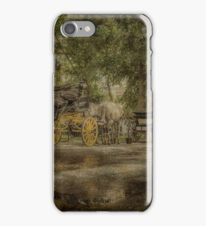 Textured carriages iPhone Case/Skin