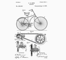 Bicycle patent from 1890 Baby Tee