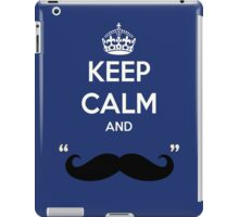 Keep calm and mustache iPad Case/Skin