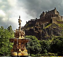 The Ross Fountain In Edinburgh, Scotland. by Aj Finan