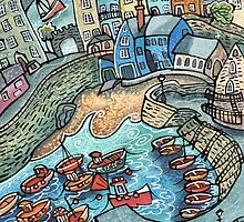Harbour Calm II, Tenby by Dorian Davies