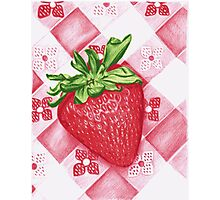 Berry Sweet Strawberry Colored Pencil Art Photographic Print