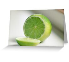 Lime Greeting Card