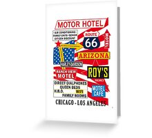 USA Route 66 Print Posters Decoration Greeting Card