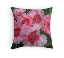 Sweet and Wet Williams Throw Pillow