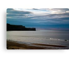 Evening at Sandsend Beach Canvas Print
