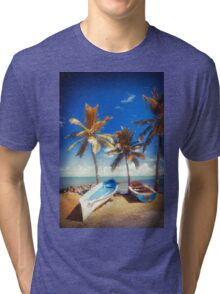 Boats and Palm Tri-blend T-Shirt