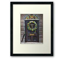 Sherlock Christmas 221 b Framed Print