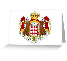Coat of Arms of Monaco  Greeting Card