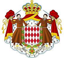 Coat of Arms of Monaco  Photographic Print
