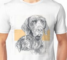 German Short-haired Pointer, Father & Son Unisex T-Shirt